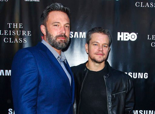 "(Photo by Paul A. Hebert/Invision/AP, File). FILE - In this Aug. 10, 2015 file photo, Ben Affleck, left, and Matt Damon attend the ""Project Greenlight"" premiere of ""The Leisure Class"" in Los Angeles. Damon, Ben Affleck and Paul Feig are jumping on the ..."