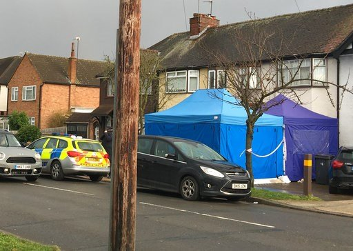 (AP Photo / Eva Ryan). Police activity at a residential address in southwest London, Tuesday March 13, 2018.  According to a police statement Tuesday they are investigating the unexplained death of a man at the address, being named as Russian businessm...