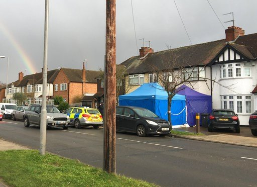 (AP Photo / Eva Ryan). Police activity at a residential address in southwest London, Tuesday March 13, 2018.  According to a police statement Tuesday a Russian businessman named as Nikolai Glushkov, who is associated with a prominent critic of the Krem...