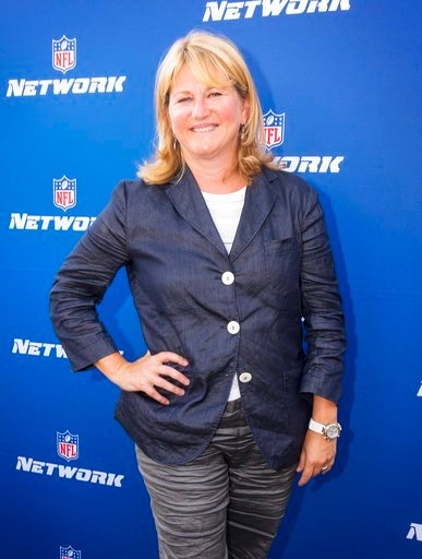 (Colin Young-Wolff/AP Images for NFL Network, File). FILE - In this Aug. 24, 2017, file photo, NFL Network President Maryann Turcke attends the Hall of Fame Heroes Event in Santa Monica, Calif. The NFL has promoted Maryann Turcke to chief operating off...