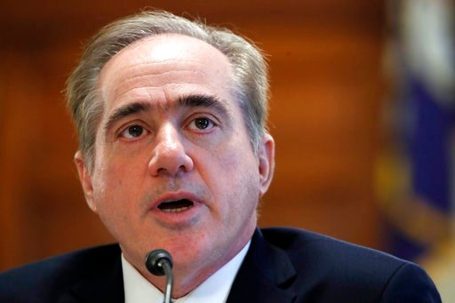 (AP Photo/Jacquelyn Martin, File). FILE - In this Feb. 6, 2018, file photo, Veterans Affairs Secretary David Shulkin speaks during a House Committee on Veterans' Affairs hearing on veteran caregiver support on Capitol Hill in Washington. Shulkin is han...