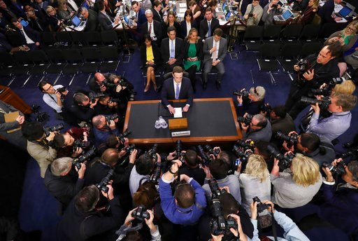 (AP Photo/Pablo Martinez Monsivais). Facebook CEO Mark Zuckerberg arrives to testify before a joint hearing of the Commerce and Judiciary Committees on Capitol Hill in Washington, Tuesday, April 10, 2018, about the use of Facebook data to target Americ...