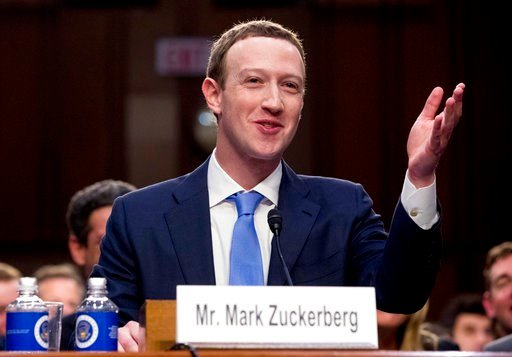 (AP Photo/Andrew Harnik). Facebook CEO Mark Zuckerberg testifies before a joint hearing of the Commerce and Judiciary Committees on Capitol Hill in Washington, Tuesday, April 10, 2018, about the use of Facebook data to target American voters in the 201...