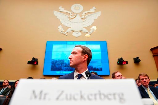 (AP Photo/Andrew Harnik). Facebook CEO Mark Zuckerberg testifies before a House Energy and Commerce hearing on Capitol Hill in Washington.