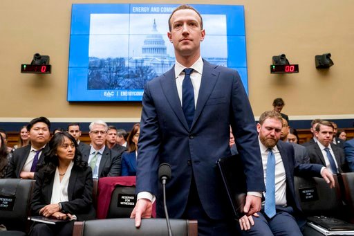 (AP Photo/Andrew Harnik). Facebook CEO Mark Zuckerberg arrives to testify before a House Energy and Commerce hearing on Capitol Hill in Washington, Wednesday, April 11, 2018, about the use of Facebook data to target American voters in the 2016 election.