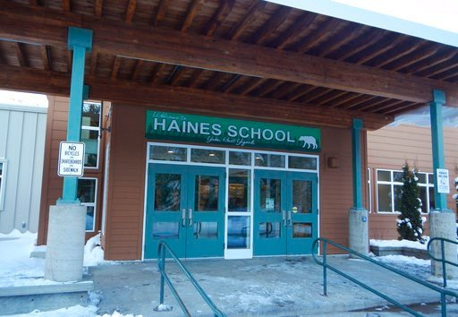 (Alaska State Department of Education and Early Development via AP). This November 2015 provided by the Alaska State Department of Education and Early Development shows the Haines School, in Haines, Alaska. The high school gym at the school was named f...