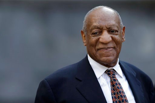 (AP Photo/Matt Slocum). Bill Cosby smiles as he departs his sexual assault trial, Friday, April 13, 2018, at the Montgomery County Courthouse in Norristown, Pa.