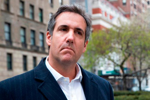 """(AP Photo/Mary Altaffer, File). FILE - This April 11, 2018 file photo shows attorney Michael Cohen in New York. President Donald Trump said Sunday, April 15, 2018, that all lawyers are now """"deflated and concerned"""" by the FBI raid on his personal attorn..."""