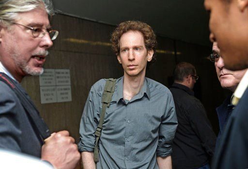 (AP Photo/ Louis Lanzano, File). FILE - In this Sept. 27, 2010, file photo, Raphael Golb, center, and his attorney Ron Kuby, left, confer during a recess in his trial at Manhattan State Supreme Court in New York. A judge is expected to decide Monday, A...