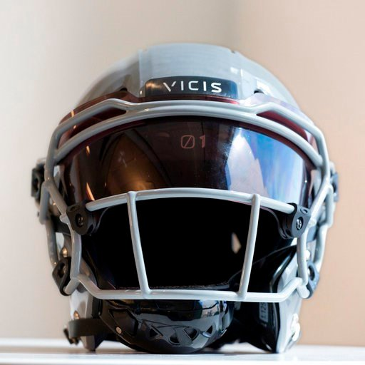 (AP Photo/Mark Lennihan, File). FILE - In this Sept. 11, 2017, file photo, a VICIS Zero1 helmet is displayed in New York. The NFL for the first time is prohibiting certain helmets from being worn by players.In notifying the 32 teams Monday, April 16, 2...