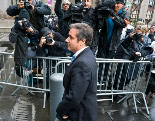 (AP Photo/Craig Ruttle). Michael Cohen, President Donald Trump's personal attorney, arrives for a hearing at federal court Monday, April 16, 2018, in New York.