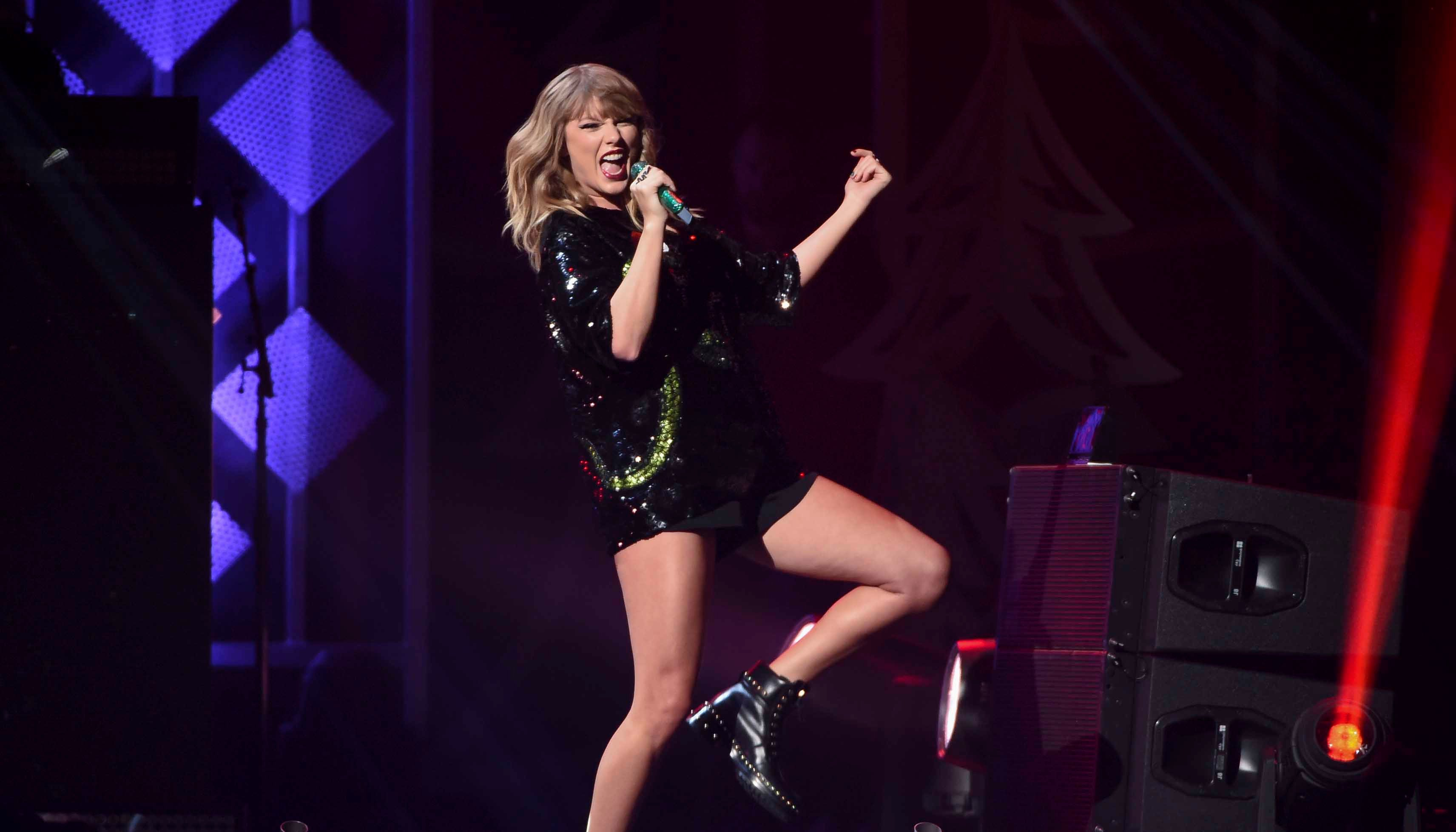 Police said a stalker broke into the New York City townhouse of Taylor Swift, seen here performing at Z100's iHeartRadio Jingle Ball on Friday, Dec. 8, 2017. (Photo by Evan Agostini/Invision/AP)
