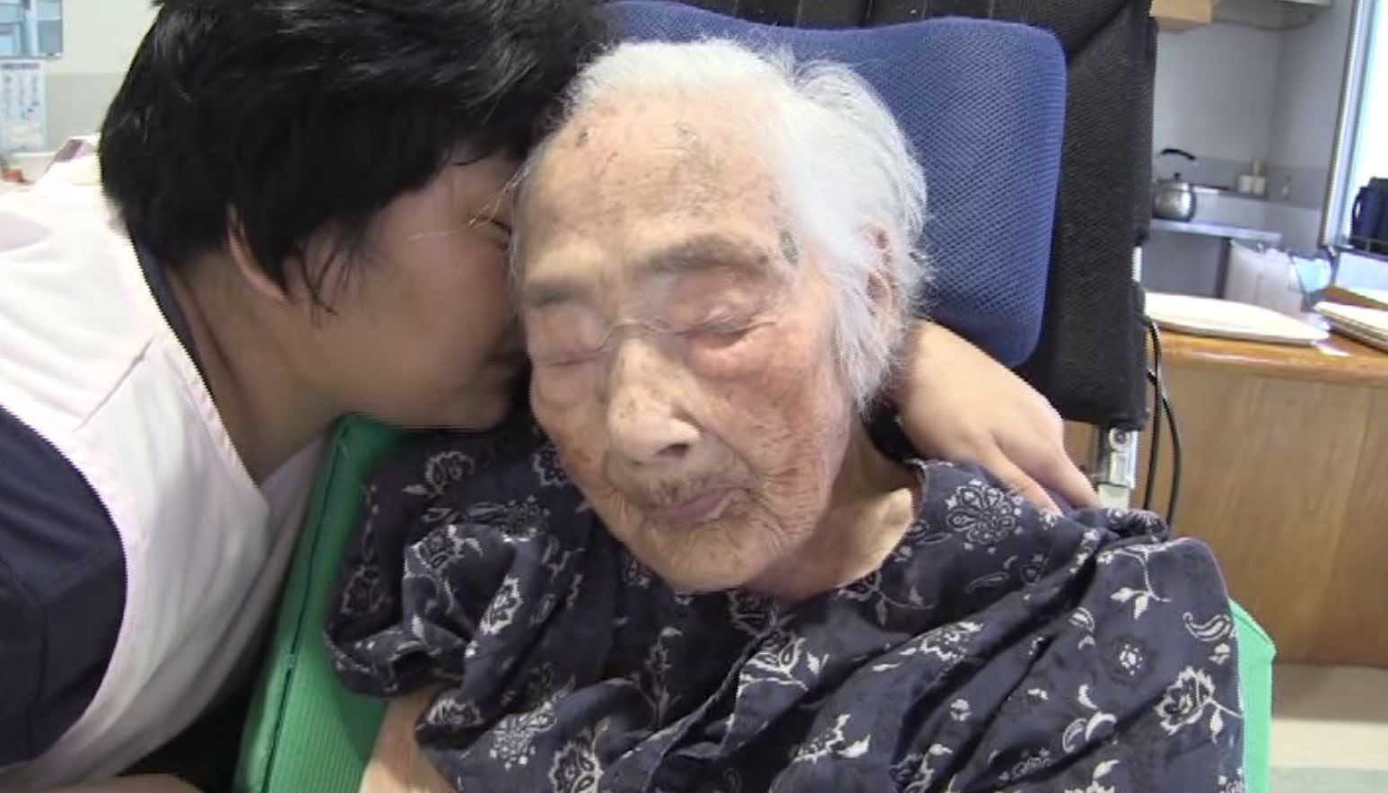 Nabi Tajima died of old age in a hospital Saturday evening in the town of Kikai in southern Japan, town official Susumu Yoshiyuki confirmed. (Source: TV Asahi/CNN)
