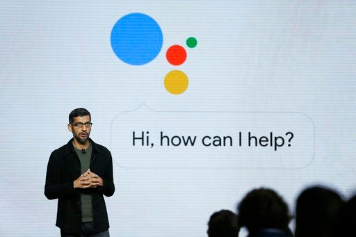 (AP Photo/Eric Risberg, File). In this Tuesday, Oct. 4, 2016, file photo, Google CEO Sundar Pichai talks about Google Assistant during a product event in San Francisco.