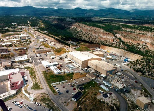 (The Albuquerque Journal via AP). This undated aerial photo shows the Los Alamos National laboratory in Los Alamos, N.M. The federal agency that oversees the nation's nuclear weapons stockpile is expected this week to release a report on the best site ...