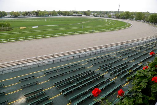 (AP Photo/Seth Wenig). Monmouth Park racetrack is seen in Oceanport, N.J., Monday, May 14, 2018. The Supreme Court on Monday gave its go-ahead for states to allow gambling on sports across the nation, striking down a federal law that barred betting on ...
