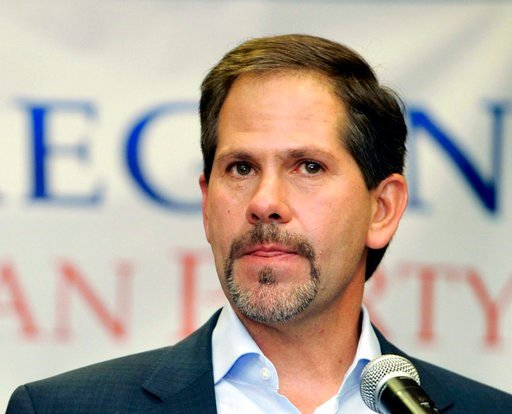 (AP Photo/Greg Wahl-Stephens, File). FILE - In this Nov. 6, 2012, file photo, Knute Buehler, who ran for Oregon Secretary of State, makes a concession speech to supporters at a Republican election party in Portland Ore. Oregon voters will choose candid...