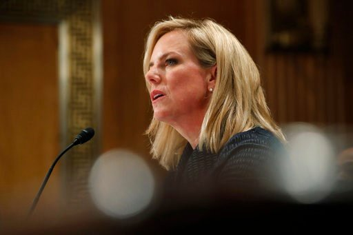 (AP Photo/Jacquelyn Martin). Homeland Security Secretary Kirstjen Nielsen testifies to the Senate Homeland Security Committee May 15 on Capitol Hill in Washington.