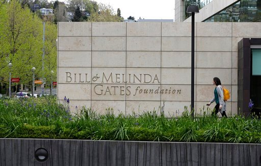 (AP Photo/Ted S. Warren). This Friday, April 27, 2018 photo shows the headquarters of the Bill and Melinda Gates Foundation in Seattle. The non-profit foundation has given about $44 million to outside groups over the past two years to help shape new st...