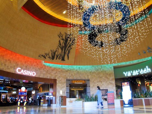 (AP Photo/Felicia Fonseca). The lobby of the Navajo Nation's Twin Arrows Casino, east of Flagstaff, Ariz., is seen Tuesday, May 15, 2018. American Indian tribes are welcoming the opportunity to add sports betting to potentially hundreds of casinos acro...