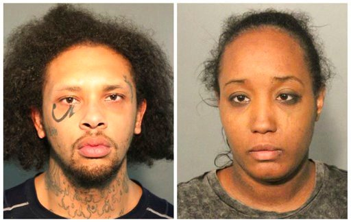 (Solano County Sheriff's Office via AP). This photo combo of booking mugs provided by the Solano County Sheriff's Office in Fairfield, Calif., shows Jonathan Allen and his wife, Ina Rogers.