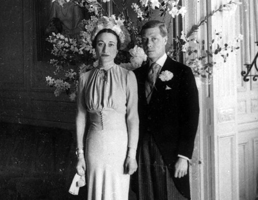 (AP Photo, File). FILE - In this June 3, 1937 file photo, the Duke and Duchess of Windsor pose after their wedding at the Chateau de Cande near Tours, in France. Divorce has bedeviled the royal family, creating problems not only when senior figures lik...