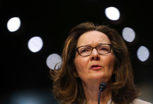 (AP Photo/Pablo Martinez Monsivais). In this May 9, 2018 photo, CIA nominee Gina Haspel testifies during a confirmation hearing of the Senate Intelligence Committee, on Capitol Hill in Washington. In a letter Tuesday to the top Democrat on the Senate I...