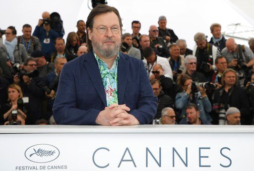 (Photo by Vianney Le Caer/Invision/AP). Director Lars von Trier poses for photographers during a photo call for the film 'The House That Jack Built' at the 71st international film festival, Cannes, southern France, Monday, May 14, 2018.