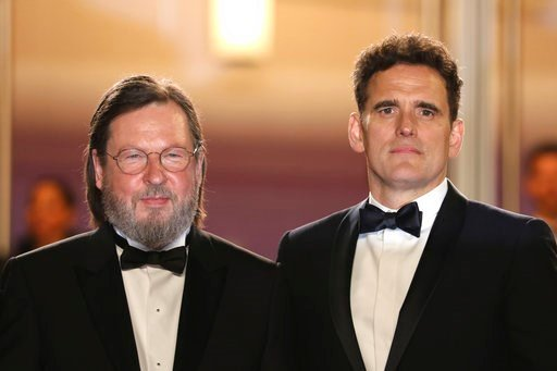 (Photo by Vianney Le Caer/Invision/AP). Director Lars von Trier, left, and actor Matt Dillon pose for photographers upon arrival at the premiere of the film 'The House That Jack Built' at the 71st international film festival, Cannes, southern France, M...