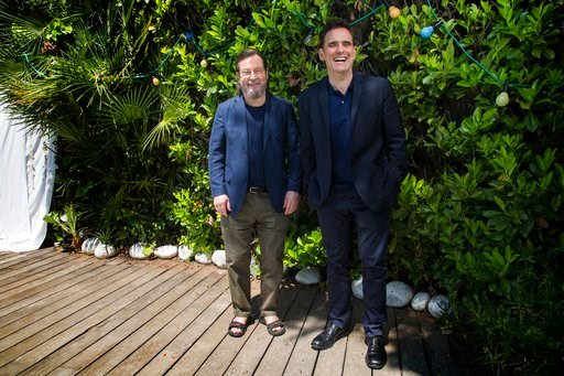 (Photo by Joel C Ryan/Invision/AP). Director Lars von Trier, left, and actor Matt Dillon pose for portrait photographs for the film 'The House That Jack Built', at the 71st international film festival, Cannes, southern France, Wednesday, May 16, 2018.