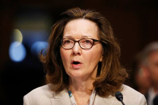 (AP Photo/Alex Brandon, File). In this May 9, 2018, file photo, CIA nominee Gina Haspel testifies during a confirmation hearing of the Senate Intelligence Committee on Capitol Hill in Washington.