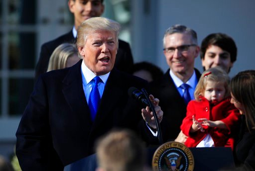 (AP Photo/Manuel Balce Ceneta, File). FILE - In this Jan. 19, 2018 file photo, President Donald Trump speaks to participants of the annual March for Life event, in the Rose Garden of the White House in Washington. The Trump administration will resurrec...