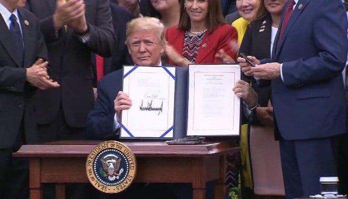 Trump praised the legislation as fulfilling his pledge to fix the Department of Veterans Affairs. (Source: CNN)