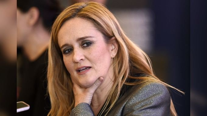 "Samantha Bee, host of ""Full Frontal with Samantha Bee,"" is interviewed at an Emmy For Your Consideration screening of the television talk show at the Writers Guild Theatre, Thursday, May 24, 2018, in Beverly Hills, Calif. (Chris Pizzello/Invision/AP)"