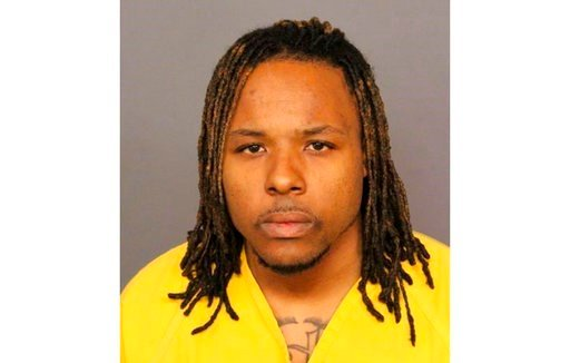 (Denver Police Department via AP, File). FILE - This file booking image provided by the Denver Police Department shows Michael Andre Hancock, who was arrested Friday, June 1, 2018, in connection with the fatal shooting of a passenger on Interstate 25. ...