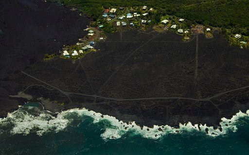 (AP Photo/LE Baskow). Most of the Kapoho area including the tide pools is now covered in fresh lava with few properties still intact as the Kilauea Volcano lower east rift zone eruption continues on Wednesday, June 6, 2018, in Pahoa, Hawaii.