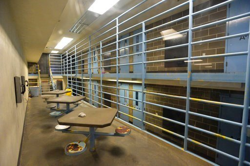 (Philip A. Dwyer/The Bellingham Herald via AP). This March 26, 2015 photo shows a maximum security cell block at the Whatcom County Jail in Bellingham, Wash. In a novel case with national implications, the Washington state chapter of the American Civil...