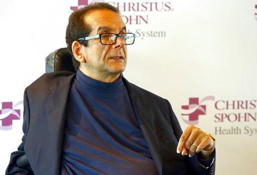 (Gabe Hernandez/Corpus Christi Caller-Times via AP). FILE - In this March 31, 2015 file photo,  Charles Krauthammer talks about getting into politics during a news conference in Corpus Christi, Texas.   The Fox News contributor and syndicated columnist...