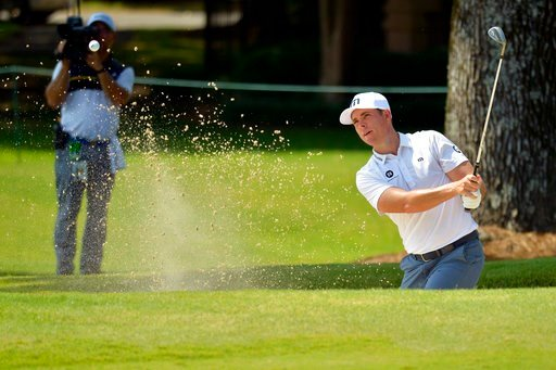 (Brandon Dill/The Commercial Appeal via AP). Luke List plays in the second round of the St. Jude Classic golf tournament at TPC Southwind, Friday, June 8, 2018, in Memphis, Tenn.
