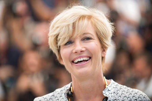 (Photo by Arthur Mola/Invision/AP, file). FILE - In this Sunday, May 21, 2017 file photo, Emma Thompson poses for photographers during the photo call for the film The Meyerowitz Stories at the 70th international film festival, Cannes, southern France. ...