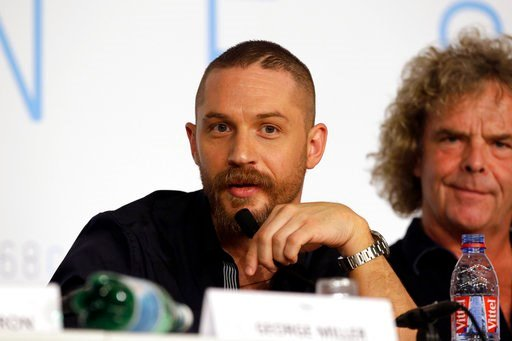 (AP Photo/Lionel Cironneau, file). FILE - In this Thursday, May 14, 2015 file photo, actor Tom Hardy speaks during a press conference for the film Mad Max: Fury Road at the 68th international film festival, Cannes, southern France. British actors Emma ...