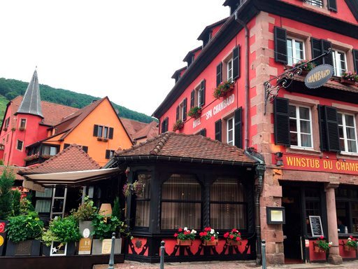(AP Photo/Jeff Schaeffer). A general view of the Le Chambard hotel where TV chef Anthony Bourdain was found, in Kaysersberg, France, Friday, June 8, 2018. A prosecutor in France says Anthony Bourdain apparently hanged himself in a luxury hotel in the s...