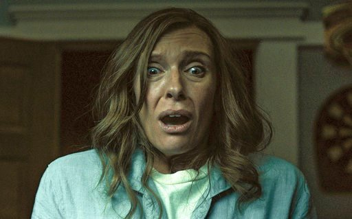 """(A24 via AP). This image released by A24 shows Toni Collette in a scene from """"Hereditary."""""""