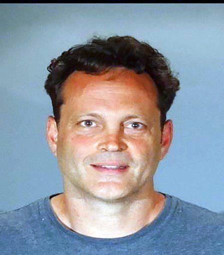 (Manhattan Beach Police Department via AP). In this Sunday, June 10, 2018, booking photo released by the Manhattan Beach Police Department shows actor Vince Vaughn.