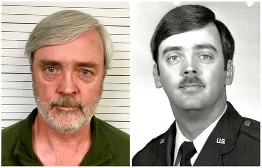 (U.S. Air Force Office of Special Investigations via AP). This combination of photos provided by the U.S. Air Force Office of Special Investigations shows William Howard Hughes Jr., after being captured in June 2018, at left, and an image from his time...