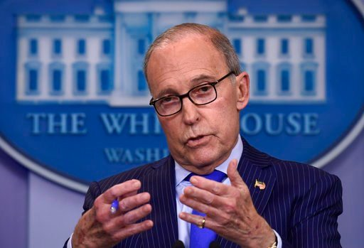 (AP Photo/Susan Walsh). In this June 6, 2018, photo, Senior White House economic adviser Larry Kudlow speaks during a briefing at the White House in Washington.