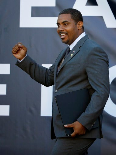 (AP Photo/John Locher, File). FILE - In this Oct. 28, 2014 file photo, Rep. Steven Horsford takes the stage to speak at an event with former President Bill Clinton in Las Vegas. All eyes are on Nevada Republican Sen. Dean Heller's re-election bid, but ...