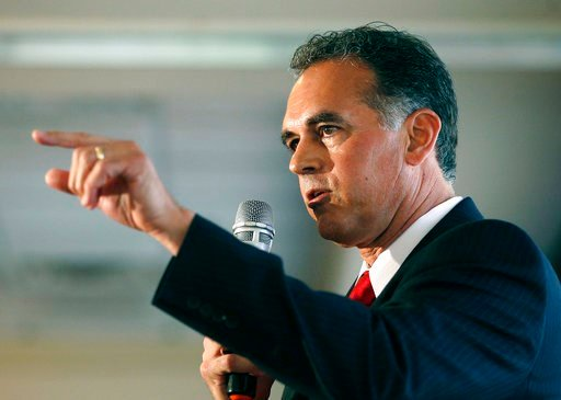 (AP Photo/John Locher, File). FILE - In this April 26, 2016 file photo, Danny Tarkanian participates in a Republican debate for Nevada's 3rd Congressional District in Henderson, Nev. The most closely-watched race in Nevada's primary election Tuesday, J...