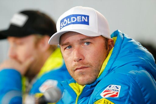 (AP Photo/Brennan Linsley, File). FILE - In this Feb. 2, 2015 file photo, USA men's ski team member Bode Miller participates in a news conference at the alpine skiing world championships in Beaver Creek, Colo. Authorities reported Monday, June 11, 2018...