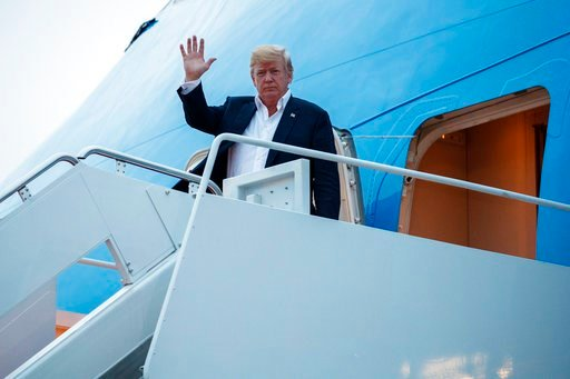 (AP Photo/Evan Vucci). U.S. President Donald Trump arrives at Andrews Air Force Base after a summit with North Korean leader Kim Jong Un in Singapore, Wednesday, June 13, 2018, in Andrews Air Force Base, Me.